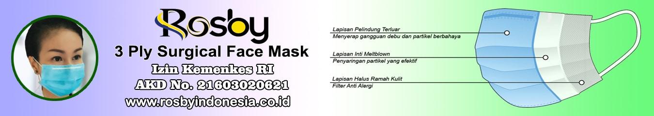 Jual Masker Medis 3 Ply Rosby